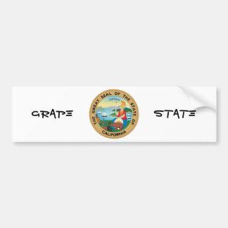 Statliga Kalifornien förseglar och mottoen Bildekal