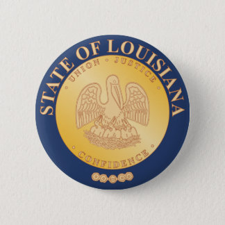 Statliga Louisiana förseglar Standard Knapp Rund 5.7 Cm