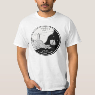 Statliga Maine inkvarterar T-tröja T-shirts