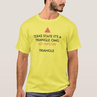 Statliga Texas är det en triangl för hipster för T-shirt