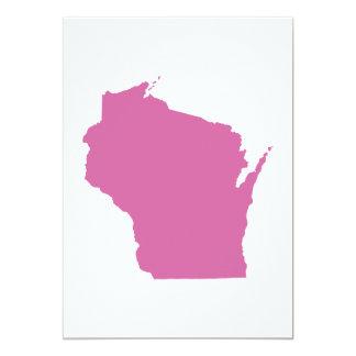 Statliga Wisconsin skisserar 12,7 X 17,8 Cm Inbjudningskort