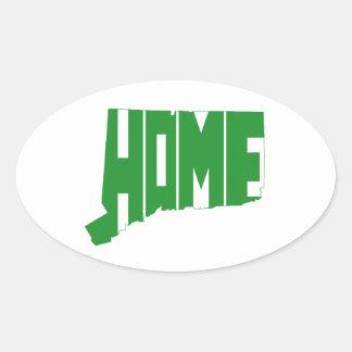 Statligt Connecticut hem Ovalt Klistermärke