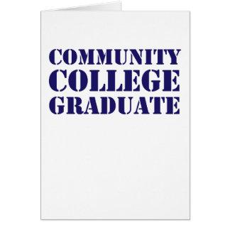 Statligt universitetstudent hälsnings kort