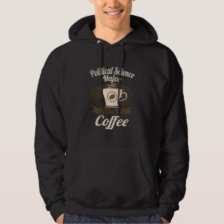 Statskunskap ha som huvudämne tankat av kaffe sweatshirt med luva