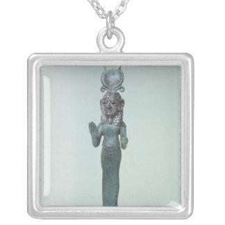 Statuette av en Phoeniciangudinna Silverpläterat Halsband