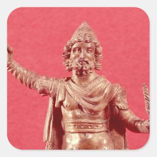 Statuette av Jupiter Dolichenus Fyrkantigt Klistermärke