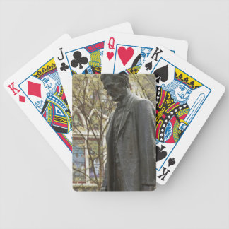 Staty av Abraham Lincoln, Portland, Oregon Spelkort