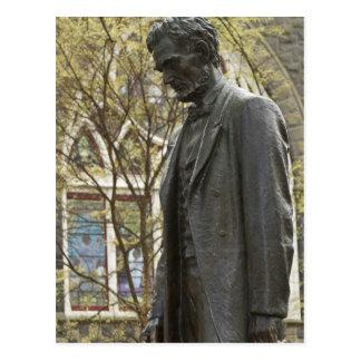 Staty av Abraham Lincoln, Portland, Oregon Vykort