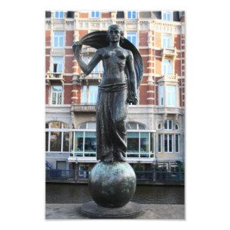 Staty av damen Fortuna, Amsterdam Fototryck