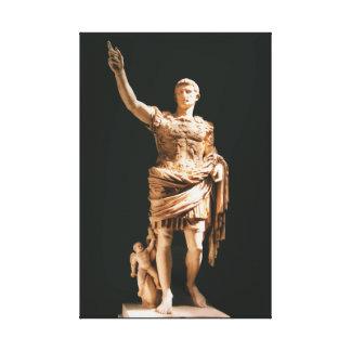 Staty av den Augustus Caesar kanvastrycket Canvastryck