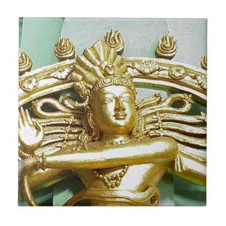 Staty av den hinduiska guden Shiva Kakelplatta