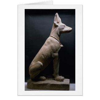 Staty av en hund, Mesopotamia, c.5000-1000 BC Hälsningskort
