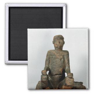 Staty av en placerad man, Mbembe, Nigeria Magnet