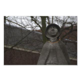 Staty av Gertrude skåpbil Oosten Fototryck