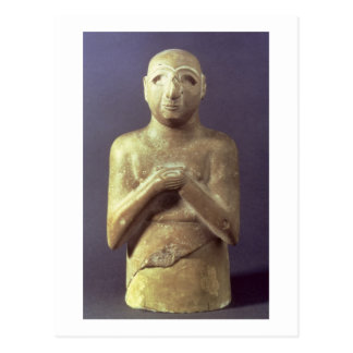Staty av guden Utu, Mesopotamian, c.2400 BC (li Vykort