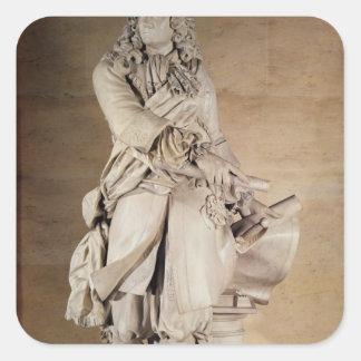 Staty av Sebastien Le Prestre de Vauban 1785 Fyrkantigt Klistermärke