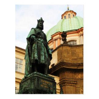 Staty för kung Charles, Prague Vykort