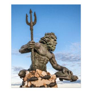 Staty för kung Neptune Fototryck