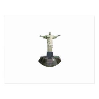 Staty: Kristus redeemeren: 3D modellerar: Vykort
