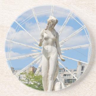 Staty som visar kvinnan i Paris Underlägg Sandsten