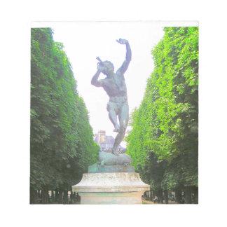 Statyn av panorerar, den Luxembourg trädgården, Anteckningsblock