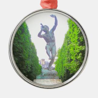 Statyn av panorerar, den Luxembourg trädgården, Julgransprydnad Metall