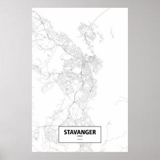 Stavanger norge (svarten på vit) poster