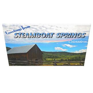 Steamboat Springs Colorado - vintagestil Canvastryck