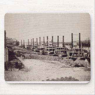 Steamers på Mississippi (b-/wfotoet) Musmatta