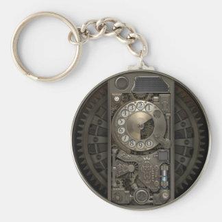 Steampunk apparat - telefon för roterande rund nyckelring