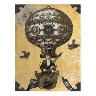 Steampunk ballong vykort