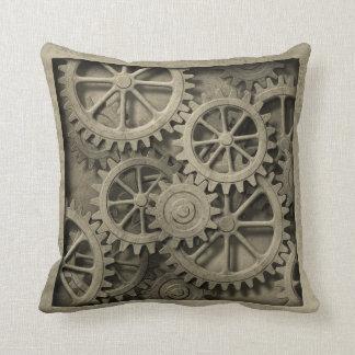 Steampunk Cogwheelsdekorativ kudde
