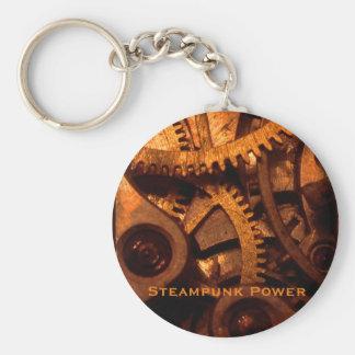 Steampunk driver utrustar urverk Keychain Rund Nyckelring