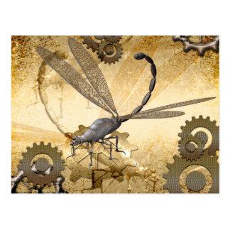 Steampunk enorma ångasländor vykort