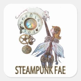 Steampunk Fae Fyrkantigt Klistermärke