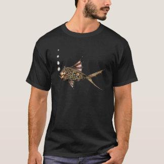 Steampunk fisk t shirt