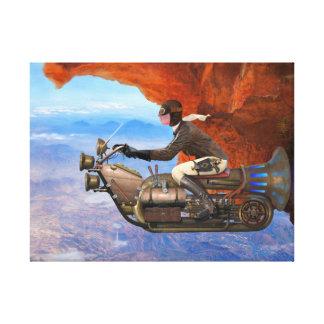 Steampunk flygmaskin canvastryck