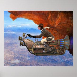 Steampunk flygmaskin poster