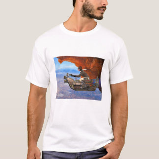 Steampunk flygmaskin tee shirt
