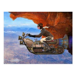 Steampunk flygmaskin vykort