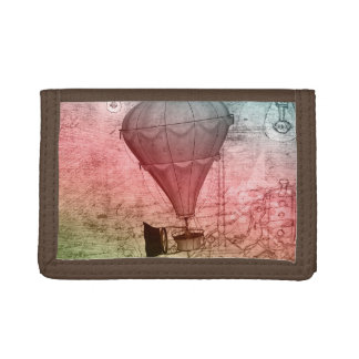 Steampunk för luftballongfantasikonst plånbok