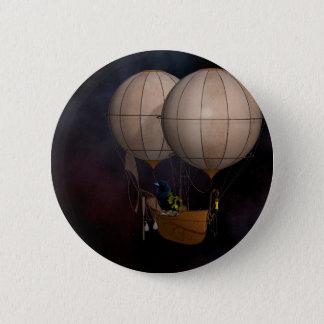 Steampunk hettluft Baloon Standard Knapp Rund 5.7 Cm