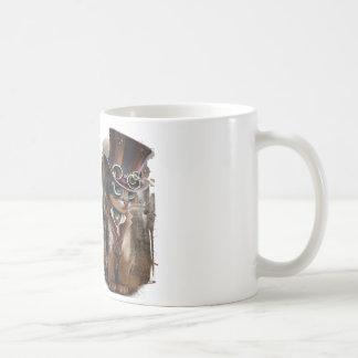 """Steampunk katt "", Kaffemugg"