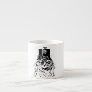Steampunk kattmugg, kattunge i top hat espressomugg