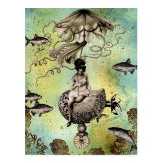 Steampunk manet vykort