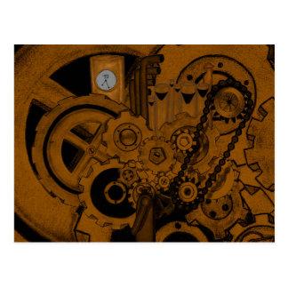 Steampunk maskineri (förkoppra), vykort