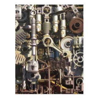 Steampunk maskineri vykort