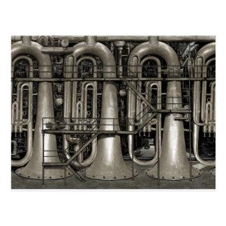 Steampunk musikfabrik vykort