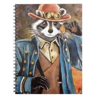 Steampunk Raccoon Anteckningsbok