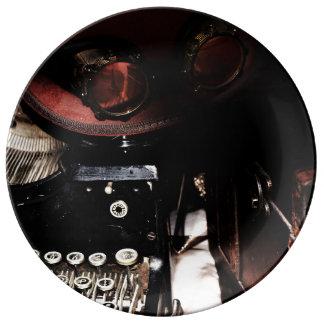 Steampunk reflexioner porslinstallrik